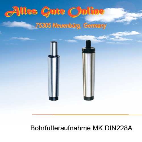 Bohrfutteraufnahme MK2 M10 DIN228A