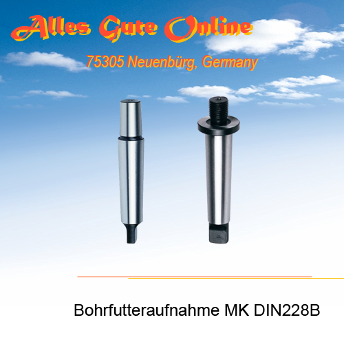 Bohrfutteraufnahme MK1 DIN228B