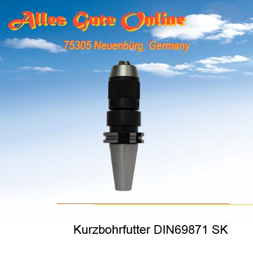 Kurzbohrfutter DIN69871 SK