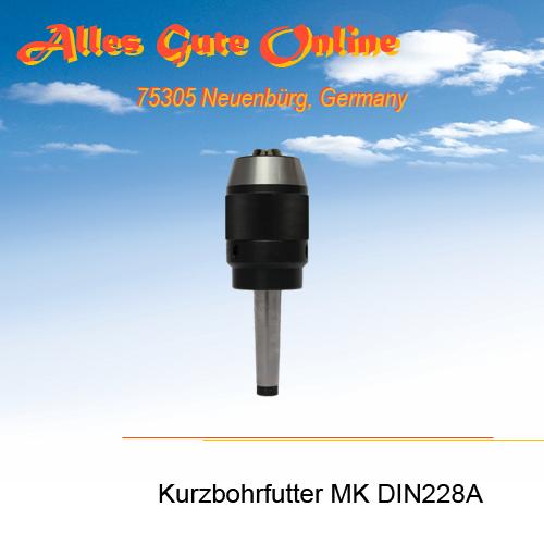Kurzbohrfutter MK DIN228A
