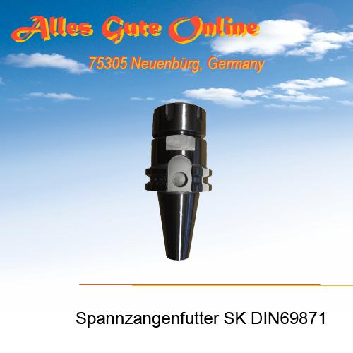 Spannzangenfutter DIN69871 SK30 M12