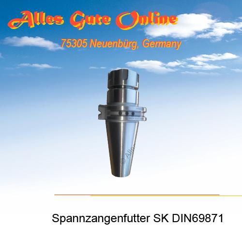 Spannzangenfutter DIN69871 SK40 M16