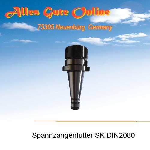 Spannzangenfutter DIN2080 SK30 M12