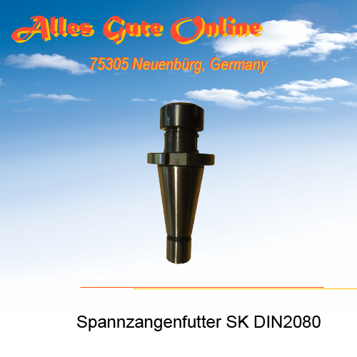 Spannzangenfutter DIN2080 SK40 M16