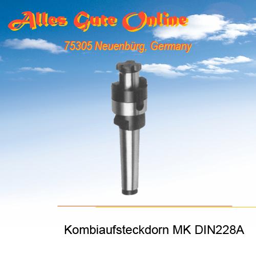 Kombi-Aufsteckdorn MK2 M10 DIN228A