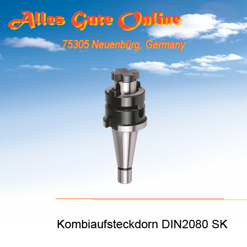 Kombi-Aufsteckdorn DIN2080 SK30 M12