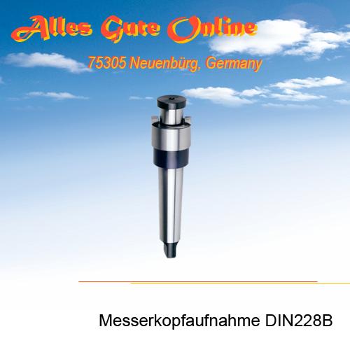 Messerkopfaufnahme MK2 DIN228B