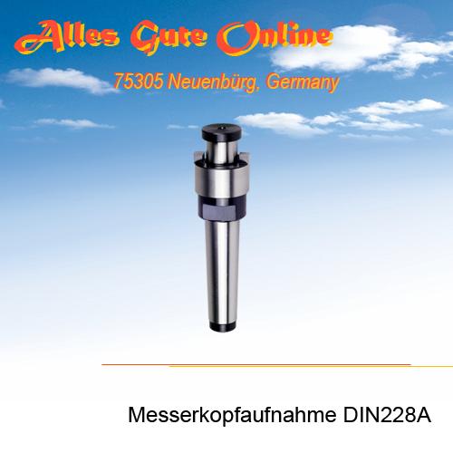 Messerkopfaufnahme MK2 M10 DIN228A