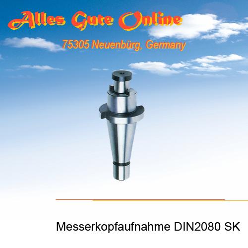Messerkopfaufnahme DIN2080 SK30 M12